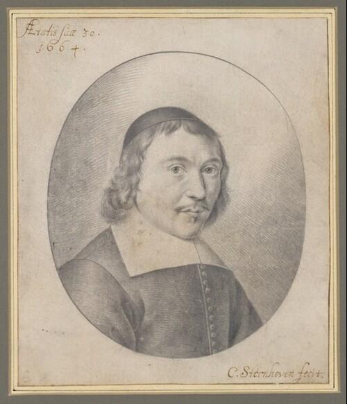 Selbstporträt, 30jährig mit dunklem Käppchen  (Brustbild im Oval) von C. Sternhoven