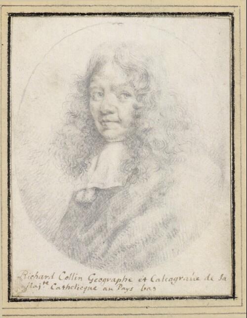 Selbstporträt  (Brustbild im Oval) von Richard Collin