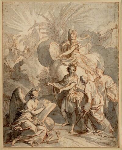 Allegorie der Kunst und Wissenschaft von Antoine Dieu