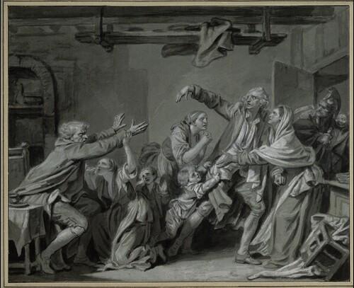 Ein Vater verflucht seinen undankbaren Sohn von Jean-Baptiste Greuze