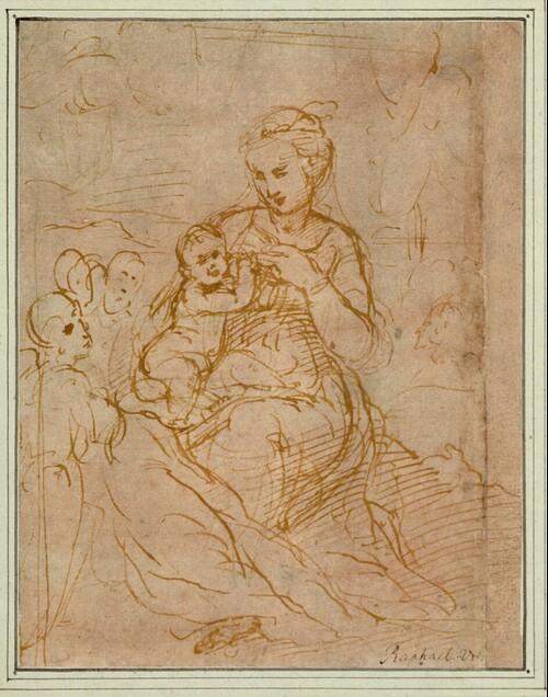 Maria Lactans mit Engeln