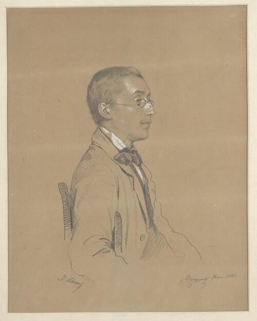 Selbstporträt von Joseph Victor von Scheffel