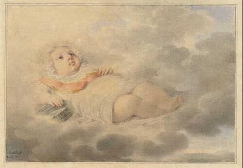 Herzog von Reichstadt als Kleinkind von Jean-Baptiste Isabey