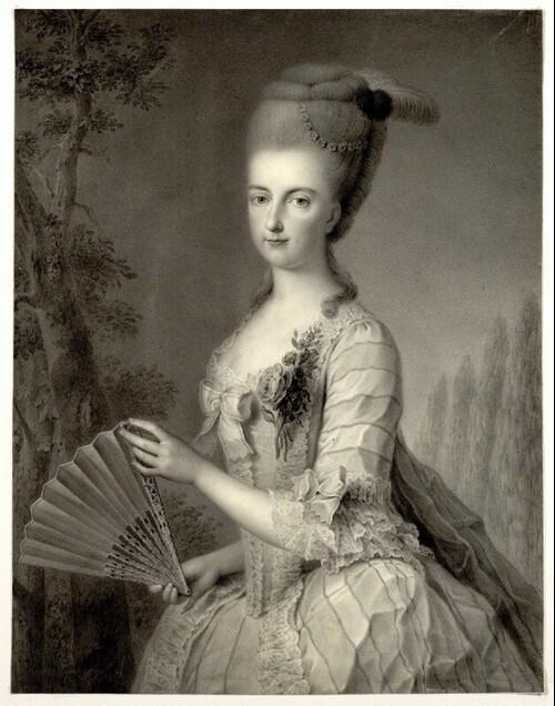 Erzherzogin Marie Christine von Österreich, Gattin des Herzogs Albert von Sachsen-Teschen von Johann August Walther