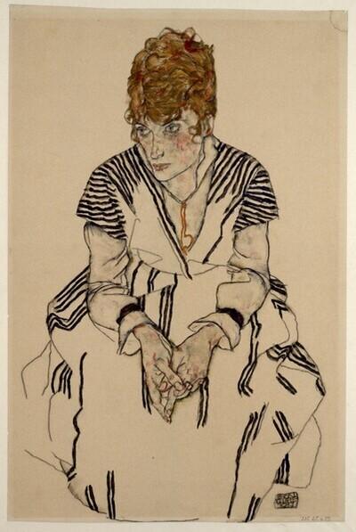 Adele Harms, die Schwägerin des Künstlers