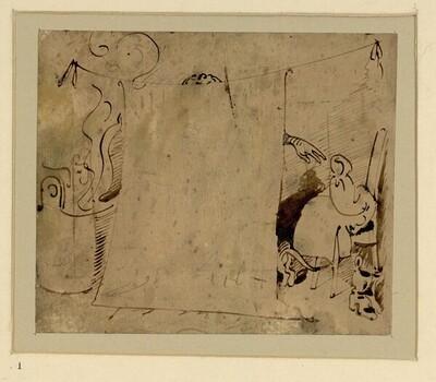 Das warme Bad (1) von Wilhelm Busch