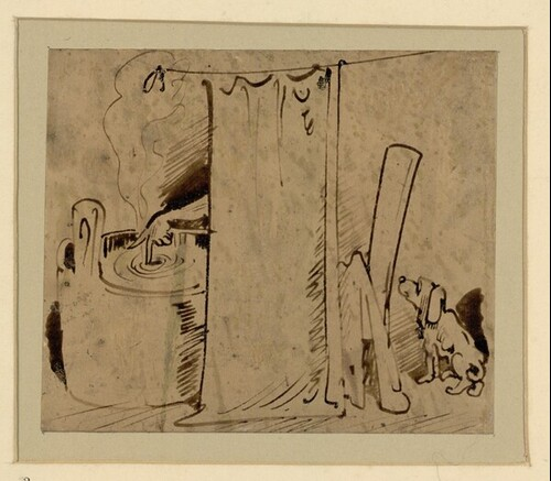 Das warme Bad (2) von Wilhelm Busch
