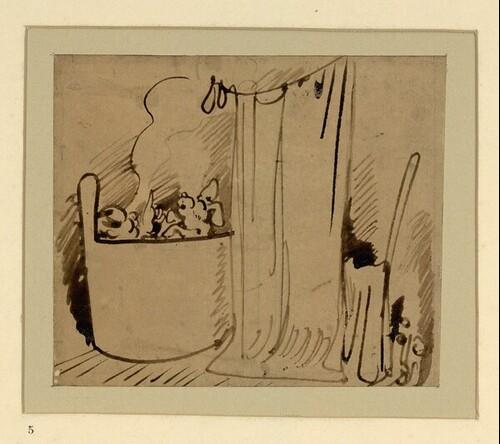 Das warme Bad (5) von Wilhelm Busch