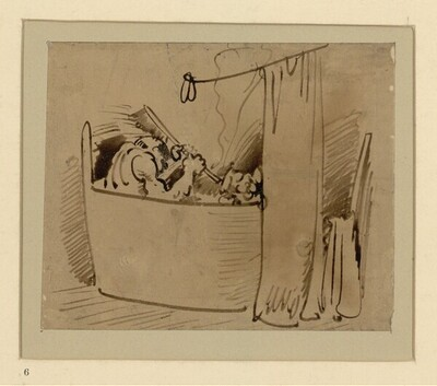 Das warme Bad (6) von Wilhelm Busch