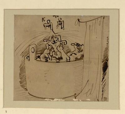Das warme Bad (7) von Wilhelm Busch