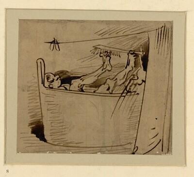 Das warme Bad (8) von Wilhelm Busch