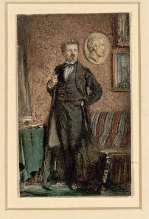 Selbstporträt von Rudolf von Alt