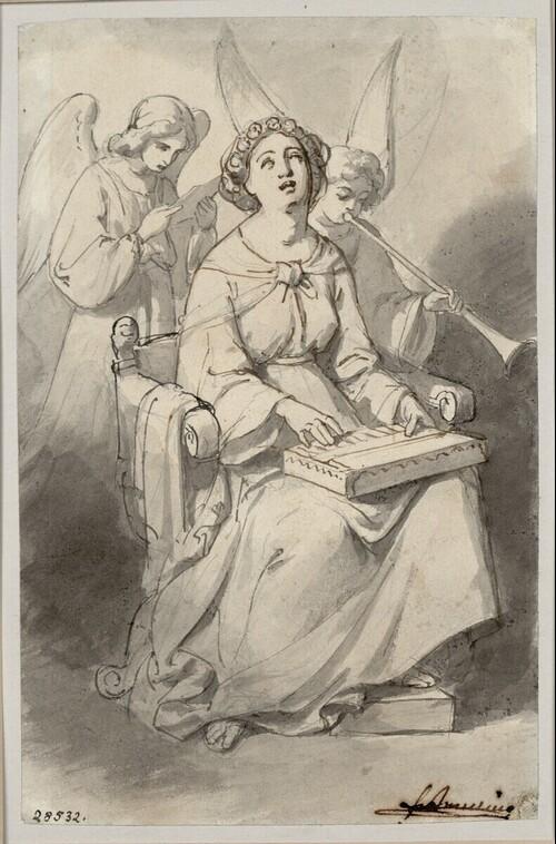 Die heilige Caecilie von Friedrich von Amerling
