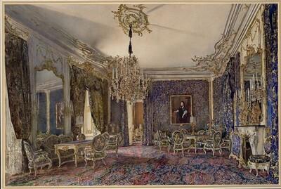 Der Blaue Salon in der Wiener Hofburg