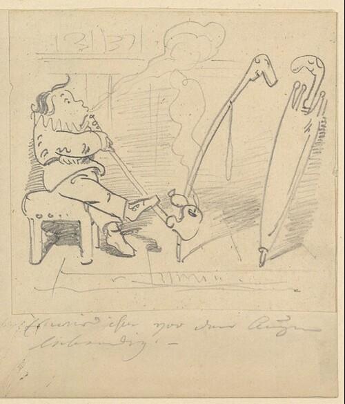 Krischan mit der Piepe (?) von Wilhelm Busch
