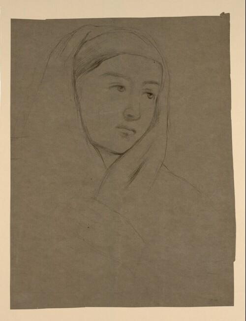Frau mit Kopftuch von Cecil van Haanen