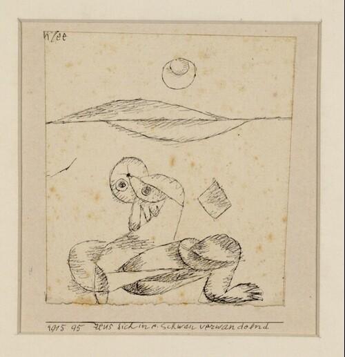 Zeus sich in einen Schwan verwandelnd von Paul Klee