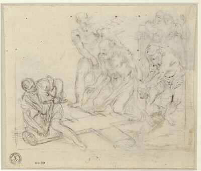 Der Scherge der Vorderseite nachgezeichnet von Francesco la Marra