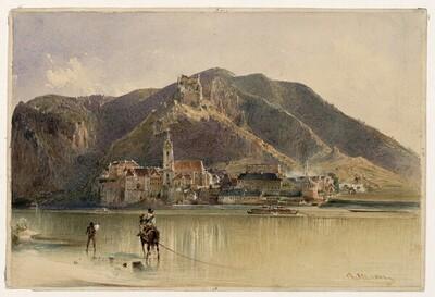 Blick auf Dürnstein in der Wachau von Rudolf von Alt