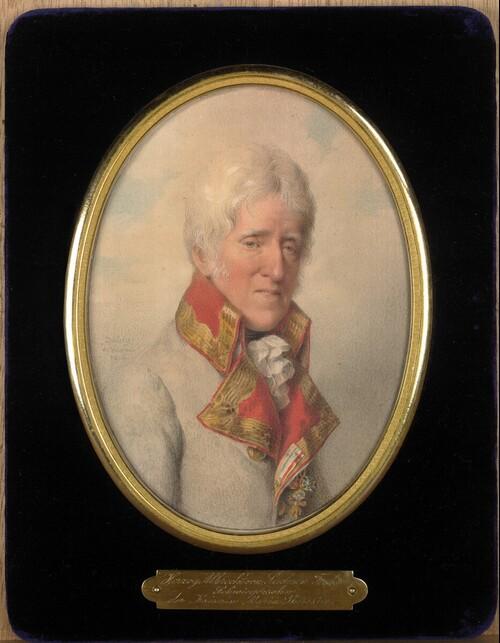 Albert, Herzog von Sachsen - Teschen (1738-1822), Gründer der Albertina, in weisser Feldmarschalluniform, mit dem Orden vom Goldenen Vlies von Jean-Baptiste Isabey