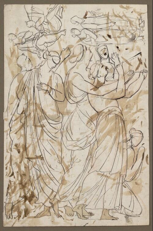 Reliefentwurf-Zeichnung von Johann Nepomuk Schaller