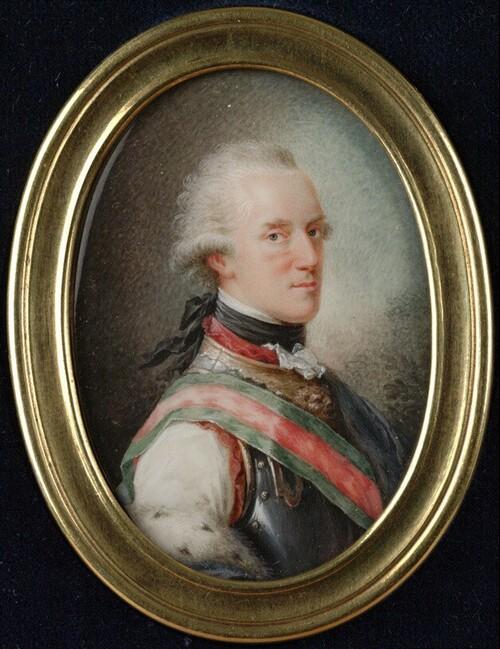 Herzog Albert von Sachsen-Teschen als Oberstinhaber seines Kürassierregiments von Heinrich Friedrich Füger