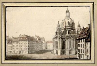Folge von Sächsischen Ansichten: Dresden, Frauenkirche von Johann Emanuel Goebel