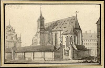 Folge von Sächsischen Ansichten: Dresden, Sophienkirche von Johann Emanuel Goebel