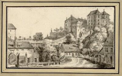 Folge von Sächsischen Ansichten: Pirna und Schloss Sonnenstein von Johann Emanuel Goebel