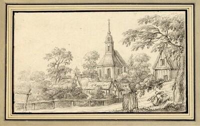 Folge von Sächsischen Ansichten: Ansicht von Kesseldorf von Johann Emanuel Goebel