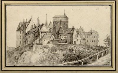 Folge von Sächsischen Ansichten: Albrechtsburg und Dom von Meißen von Johann Emanuel Goebel