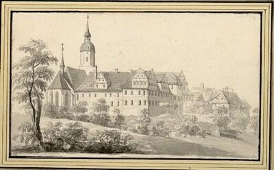 Folge von Sächsischen Ansichten: Schloss von Merseburg von Johann Emanuel Goebel