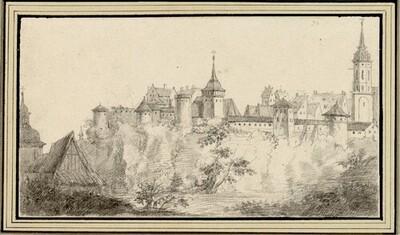 Folge von Sächsischen Ansichten: Ansicht von Bautzen an der Spree von Johann Emanuel Goebel