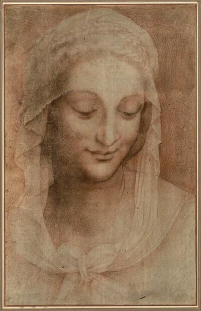 Kopf der heiligen Anna von Anonym
