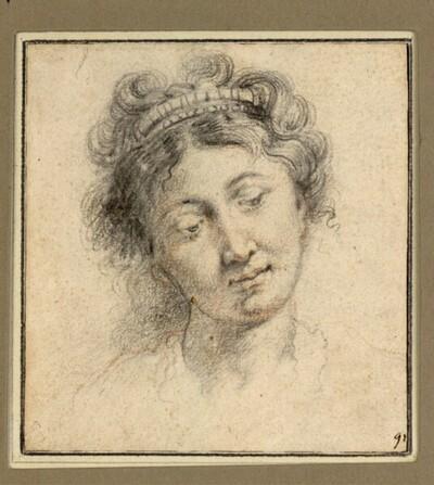 Frauenkopf mit Diadem von Anonym