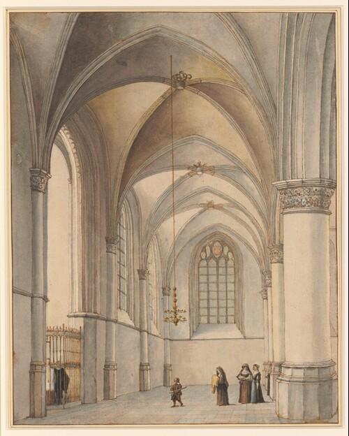 Innenansicht des südlichen Seitenschiffes von St. Bavo in Haarlem
