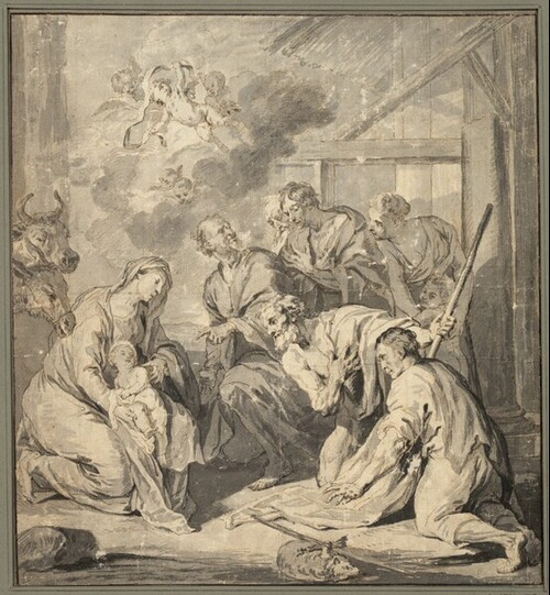 Die Anbetung der Hirten von Jan Boeckhorst