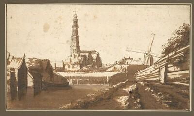 Blick auf die Westerkerk in Amsterdam von Johannes Leupenius