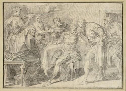 Ulysses begrüßt seinen Vater von Theodor van Thulden