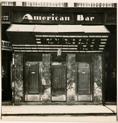 Kärntner Bar (American Bar), Wien I., Kärntner Durchgang, Portal von Martin Gerlach jun.