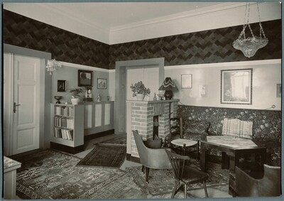 Wohnhaus Hans und Johanna Brummel (Umbau und Erweiterung), Pilsen, Husova 58 (Husgasse 58, früher Leninova 58), Tschechische Republik, Wohnzimmer von Martin Gerlach jun.