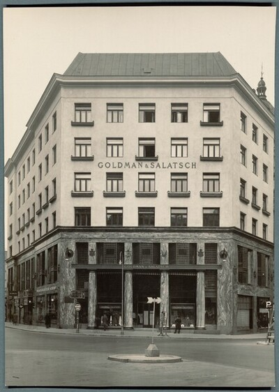 Geschäftshaus Goldman & Salatsch, Wien I., Michaelerplatz 3, Fassade Michaelerplatz von Martin Gerlach jun.