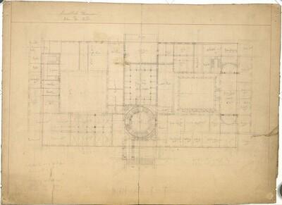 Wien I, Kunsthistorisches Hofmuseum, Entwurf, Erdgeschoß, Grundriss von Carl von Hasenauer