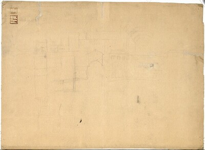 Architekturskizzen, Grundrisse und Aufrisse von Carl von Hasenauer