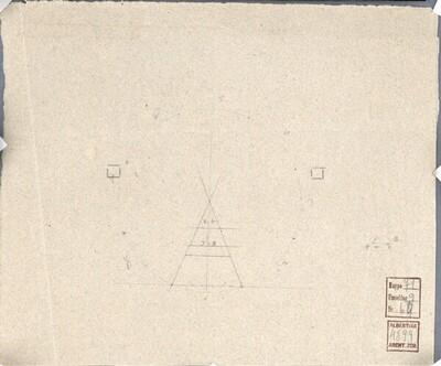 Wien I, Hofburg, Innerer Burghof, Kaiser Franz-Denkmal (?), Konstruktionsskizzen von Pompeo Marchesi