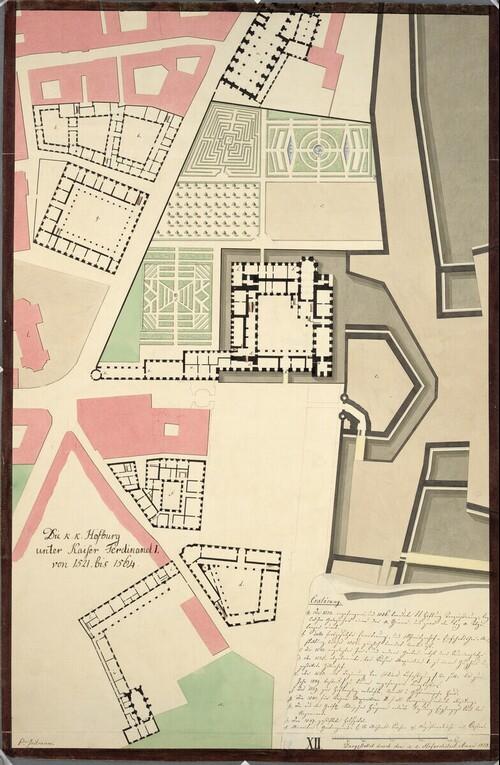 Wien I, Hofburg, Aman-Rekonstruktion, zwischen 1521 und 1564, Parterre, Grundriß von Johann Aman