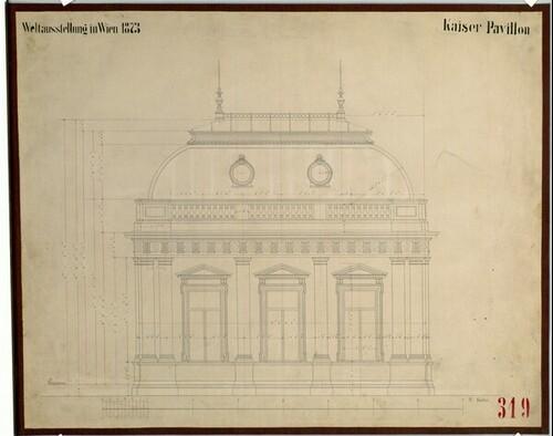 Wien II, Weltausstellung 1873, Kaiser Pavillon, von (Freiherr) Carl von Hasenauer