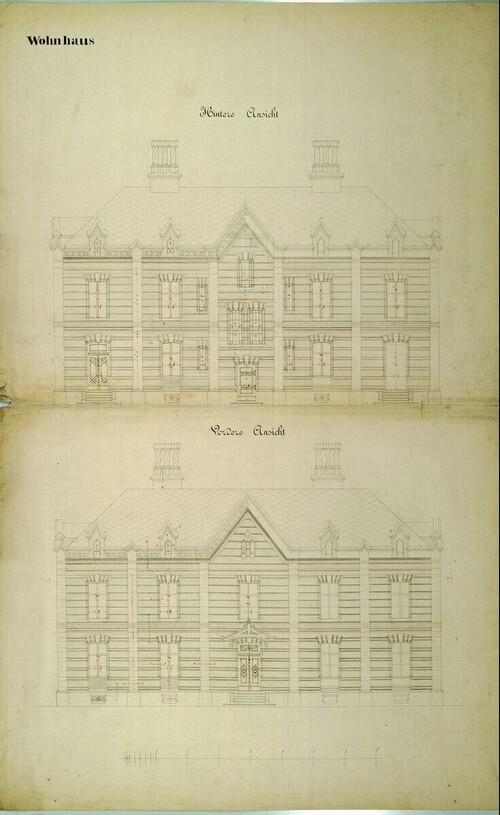 Wien II, Prater (Schüttel), Etablissement Hasenauer, Wohnhaus, Aufrisse von (Freiherr) Carl von Hasenauer
