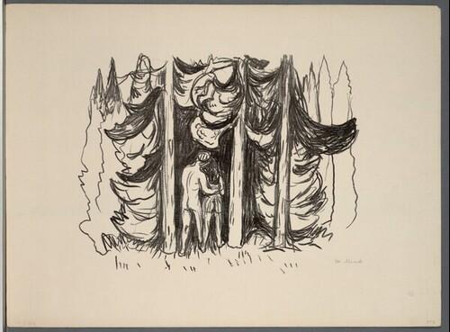 Der Wald von Edvard Munch