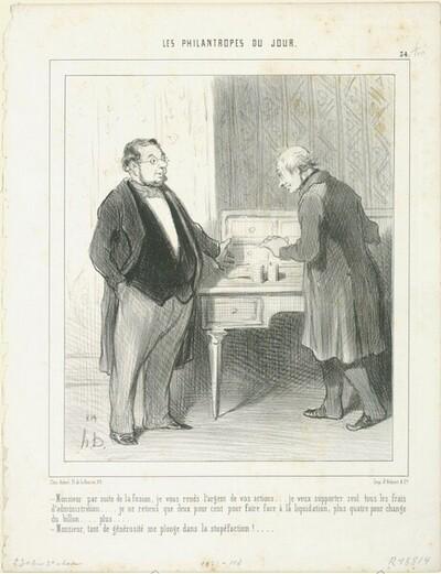 Monsieur par suite de la fusion... von Honoré Daumier